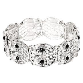 Silver Owl Stretch Bracelet,