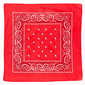 Claire's Club Paisley Bandana Headwrap - Red,