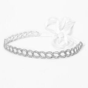 Silver Open Infinity Ribbon Headwrap,