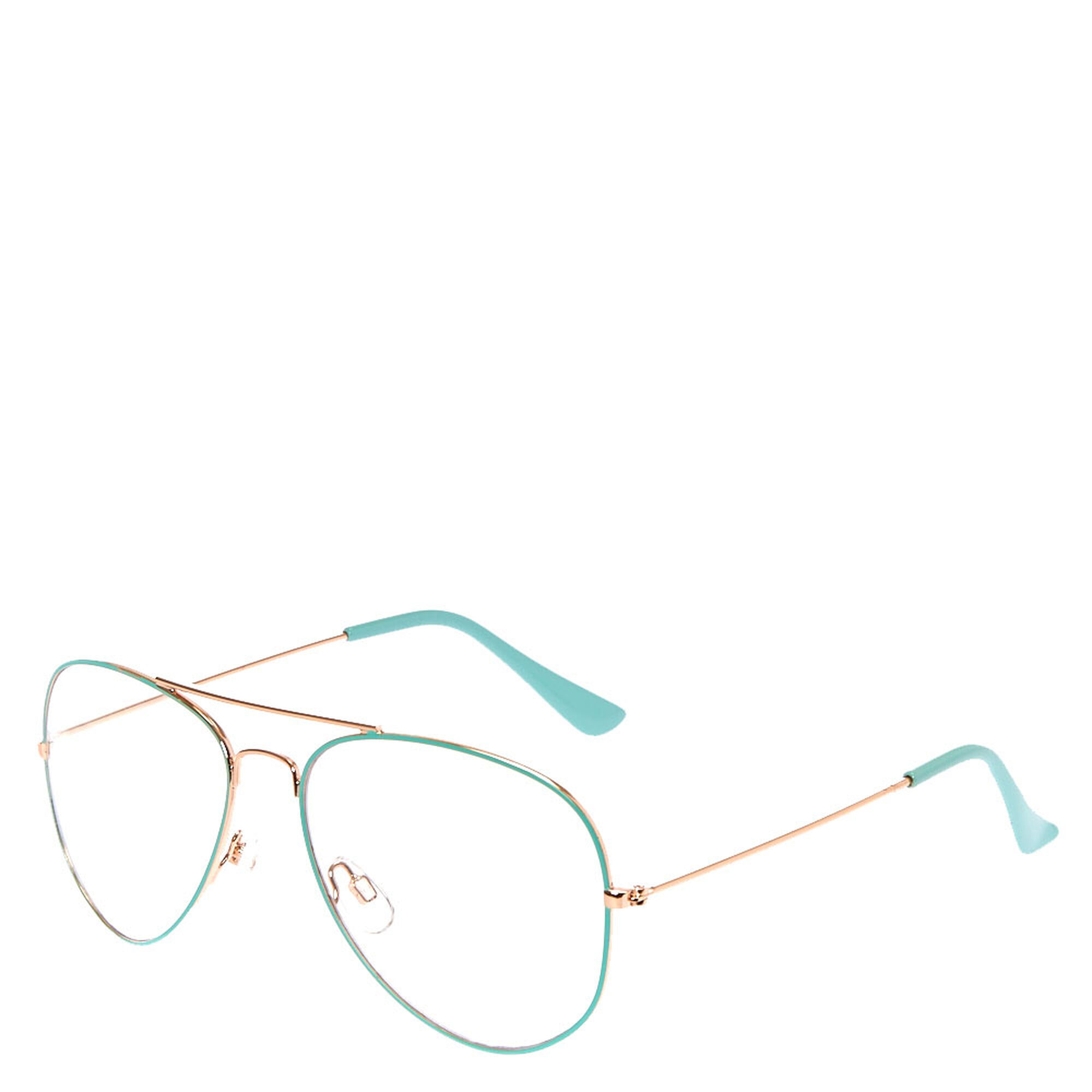 Mint and Gold Aviator Frames | Claire\'s US