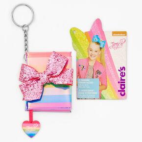 JoJo Siwa™ Striped Mini Diary Keychain - Rainbow,