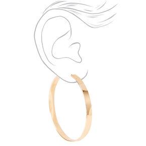 Gold 40MM Thick Hoop Earrings,