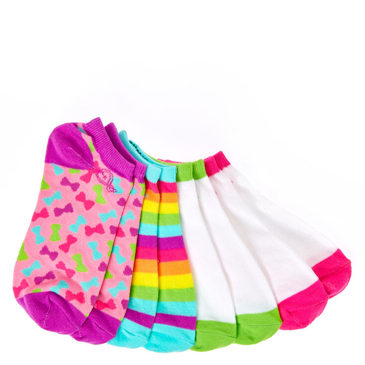 7f6782758 JoJo Siwa trade  4 Pack Ankle Socks
