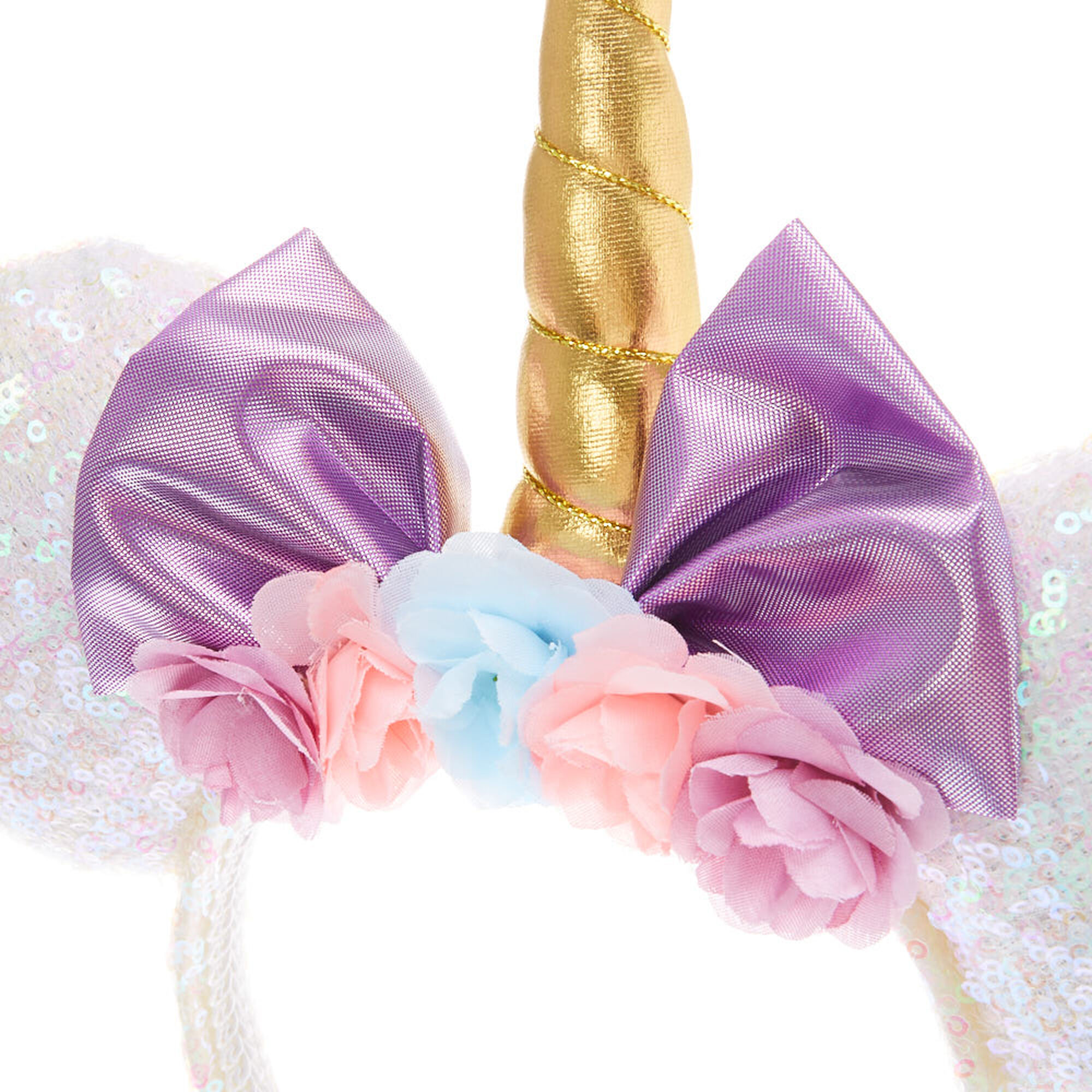 f30cadb91d8f ... Disney® Sequin Unicorn Minnie Mouse Ear Headband - White ...