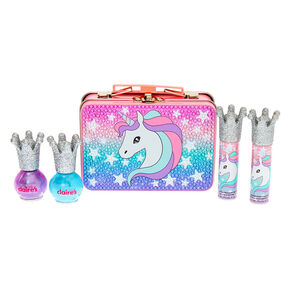 Claire's Club Miss Glitter the Unicorn Makeup & Tin Set - 4 Pack,