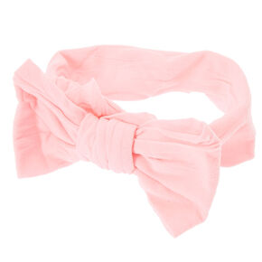 Claire's Club Pink Mesh Bow Headwrap,