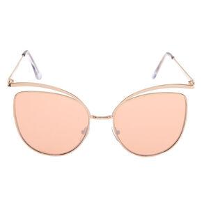 Mod Cat Eye Sunglasses - Rose Gold,