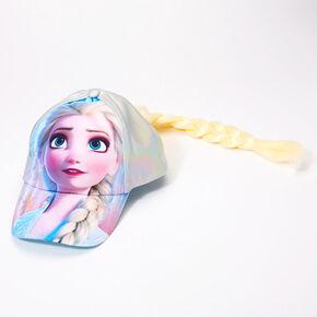 Casquette de baseball avec cheveux Elsa La Reine des Neiges 2 de ©Disney,