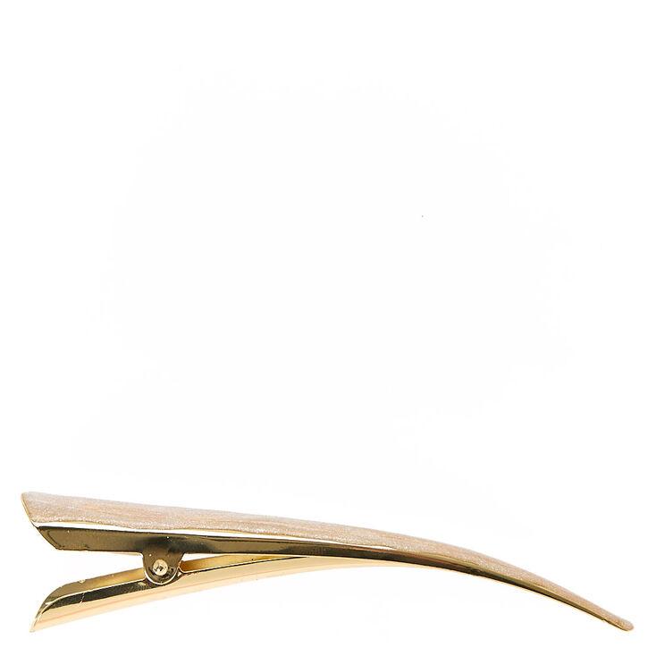 Gold Glitter Beak Hair Barrette,