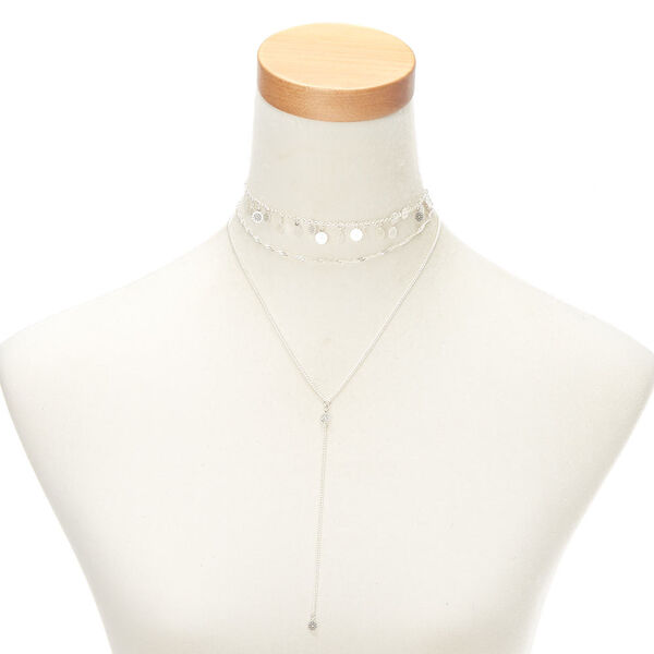 Claire's - filigree flower necklaces - 1