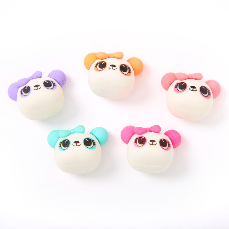 Rainbow Panda Erasers - 5 Pack,