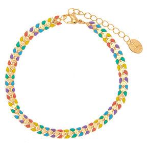 Rainbow Chevron Chain Anklet,