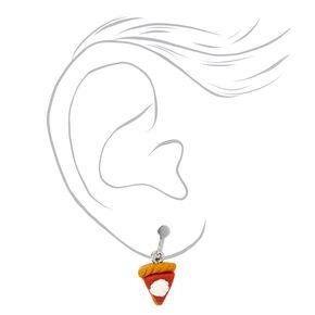Pumpkin Pie Clip on Drop Earrings,