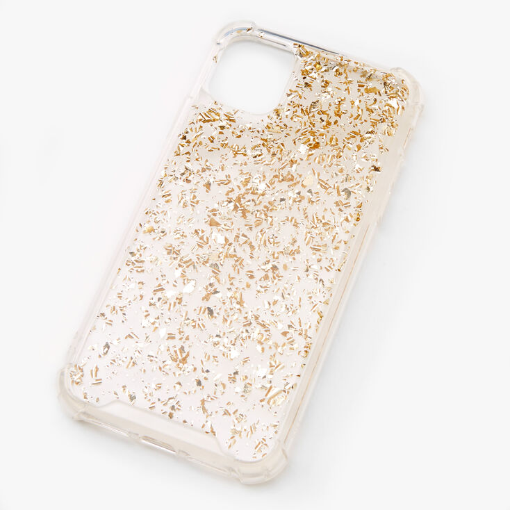 Gold Flecked Clear Phone Case - Fits iPhone 11,
