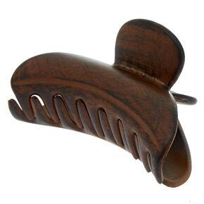 Dark Wood Hair Claw - Brown,