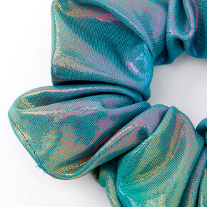 Medium Anodized Hair Scrunchie - Green,