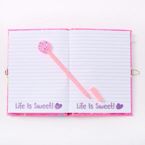 Shaker Sweets Lollipop Lock Diary - Pink,