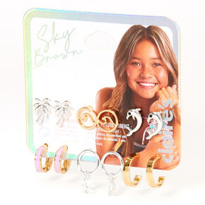 Sky Brown™ Mixed Metal  Earrings - 6 Pack,