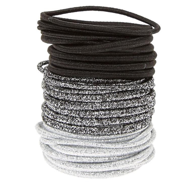 Black  amp  Silver Metallic Hair Ties 0a5a8766450