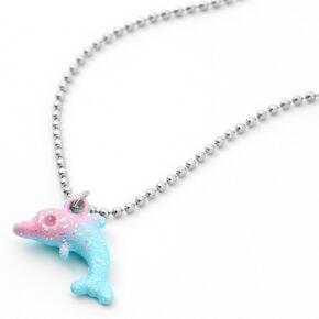 Glitter Dolphin Pendant Necklace,