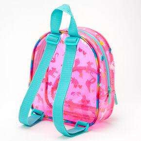 Claire's Club Transparent Mini Backpack - Pink,