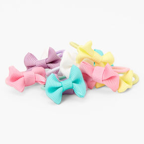 Claire's Club Pastel Bow Hair Ties - 10 Pack,