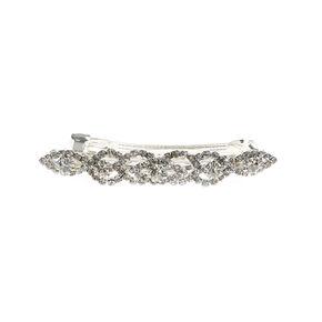 Crystal Layered Oval Hair Clip,