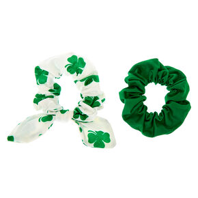 Small Shamrock Hair Scrunchies - 2 Pack,