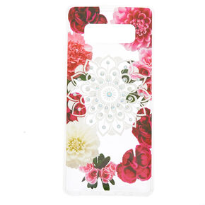 Floral Bling Mandala Phone Case - Fits Samsung Galaxy Note 8,