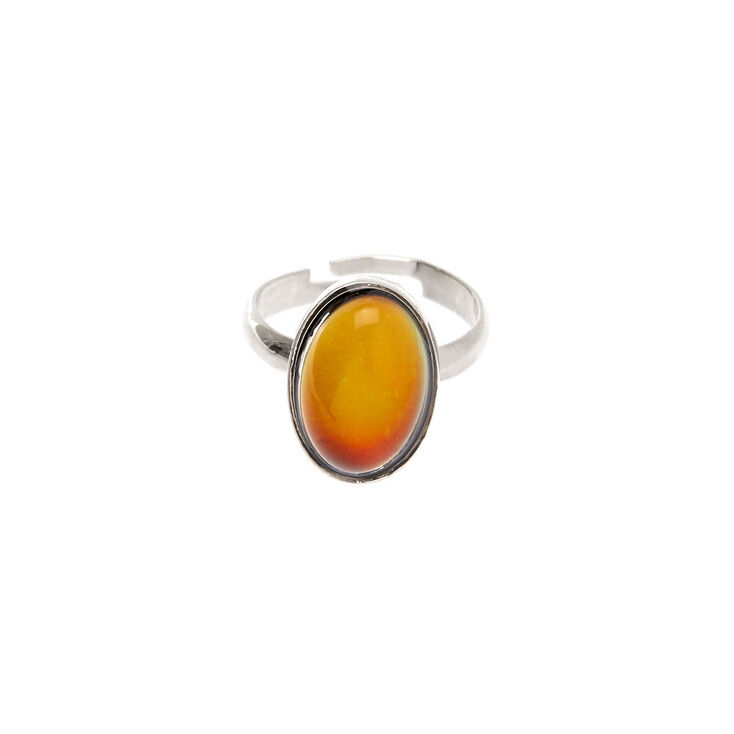 Silver Oval Mood Ring,