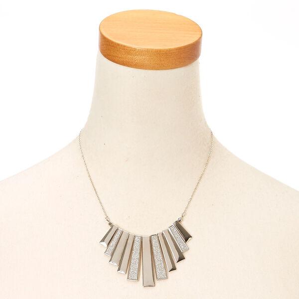 Claire's - glitter bar fringe necklace - 2