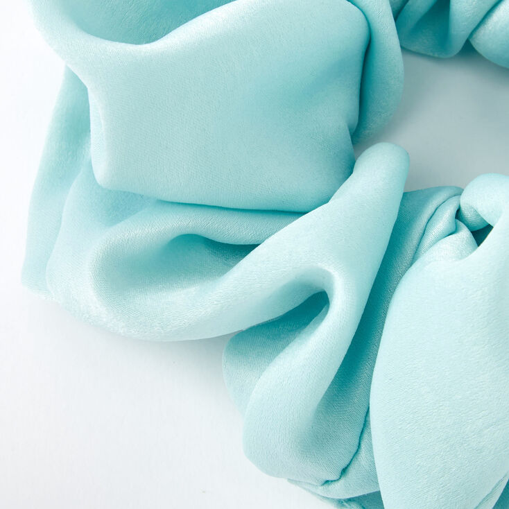 Giant Satin Hair Scrunchie - Mint,