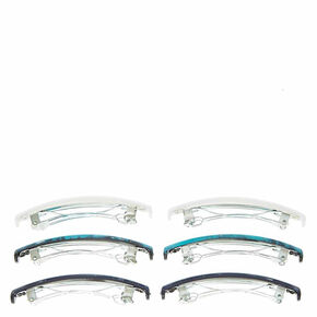 Marble Hair Barrettes - Turquoise,