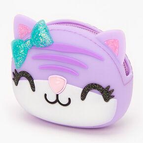 Purple Cat Jelly Coin Purse,