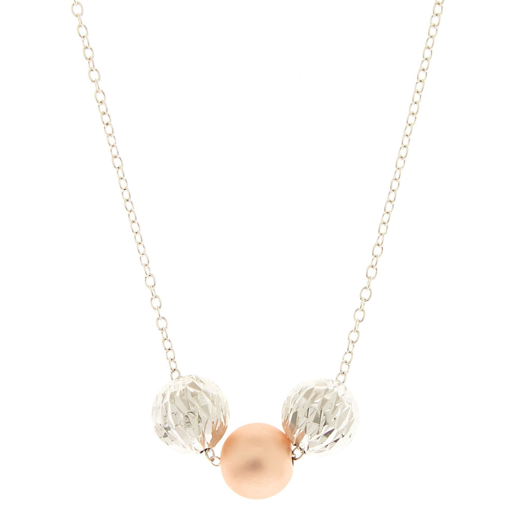 Three bead pendant necklace claires three bead pendant necklace aloadofball Image collections