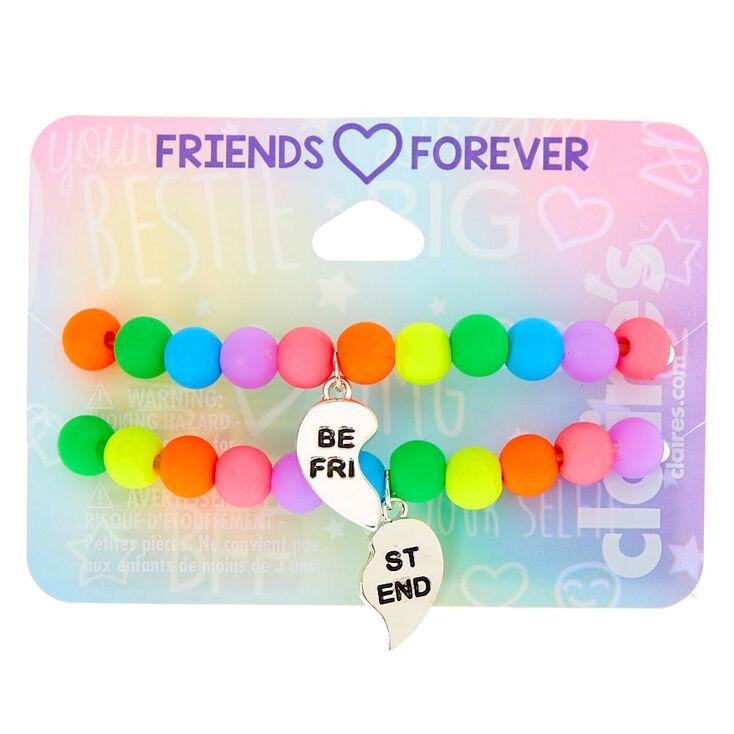 Rainbow Bead Stretch Friendship Bracelets - 2 Pack,
