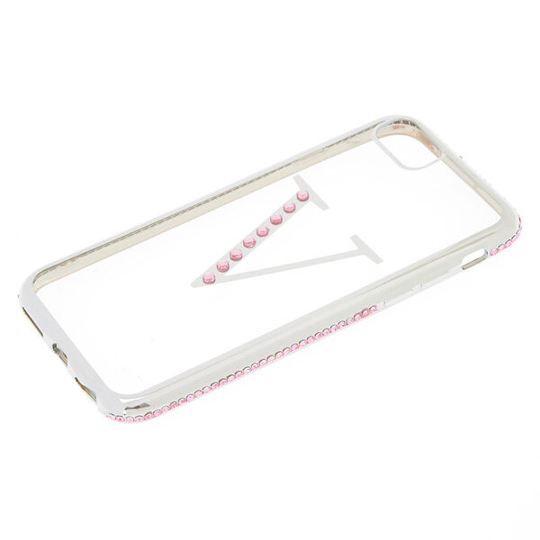 Claire's - stone v initial phone case - 2