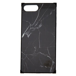 Black Marble Square Phone Case - Fits iPhone 6/7/8/SE,