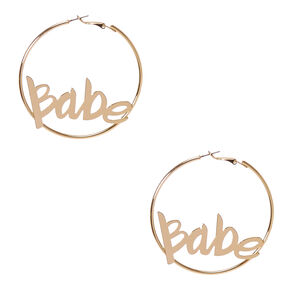 Gold 60MM Babe Hoop Earrings,