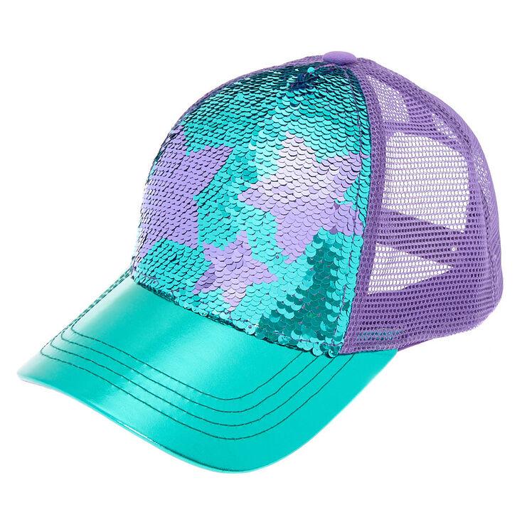 Star Sequin Baseball Cap - Turquoise  2dfac29a9510