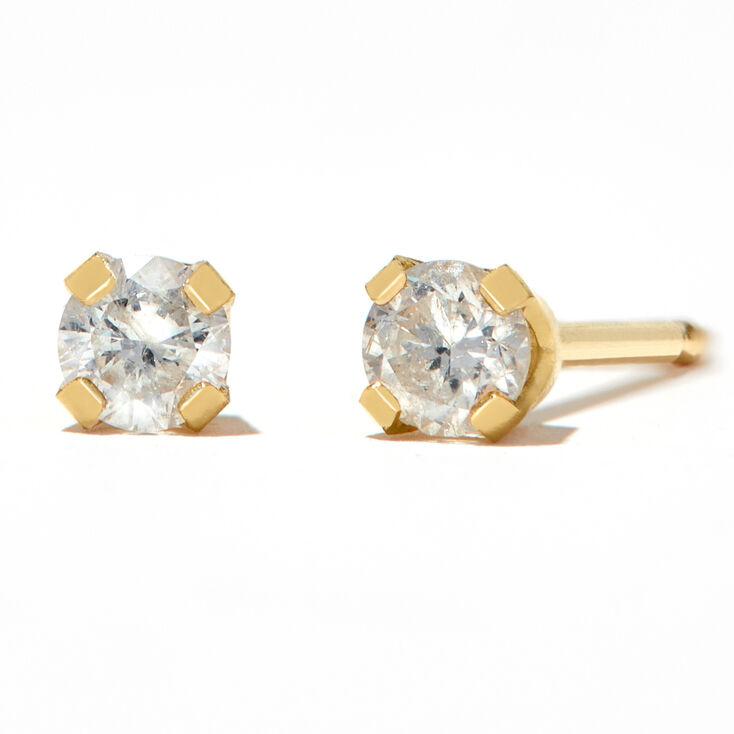 Round Diamond Stud Earrings 1/10 ct. tw. 14kt Yellow Gold,