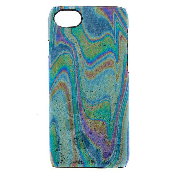 Claire's - oilslick snake skin phone case - 1
