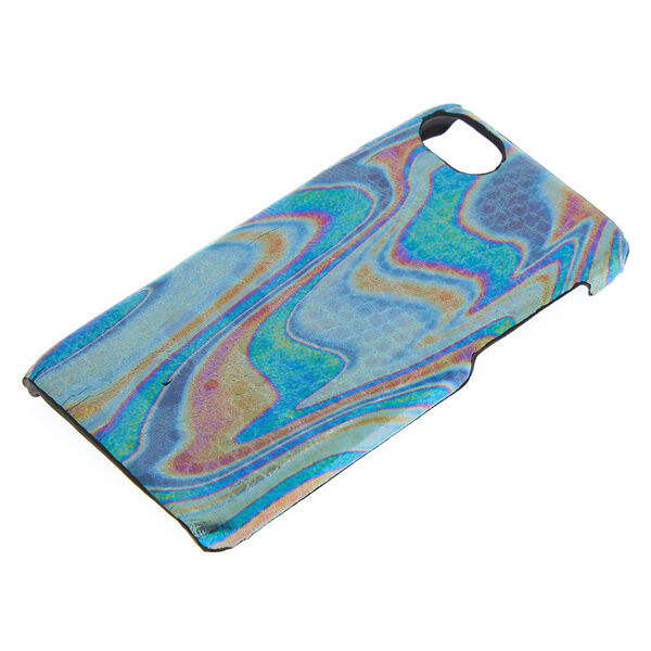 Claire's - oilslick snake skin phone case - 2