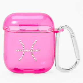 Pink Pisces Zodiac Earbud Case Cover - Compatible with Apple AirPods®,