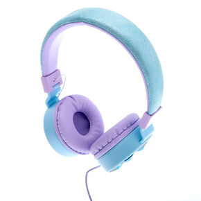 Snowflake Bling Headphones - Blue,