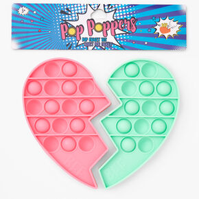 Pop Poppers Break Apart Heart Fidget Toy - Pink and Green,