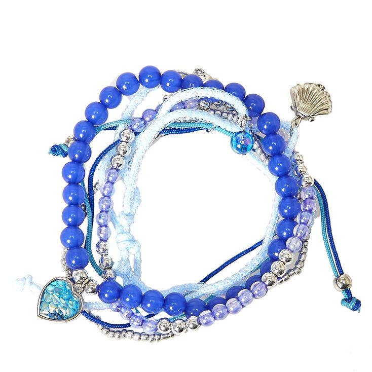 Lot de 5 bracelets fond marin,