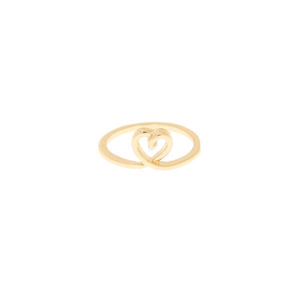 Claire's - heart midi ring - 2