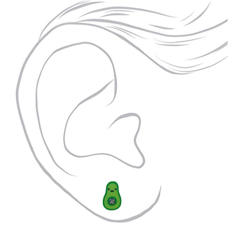 Avocado Stud Earrings - Green,