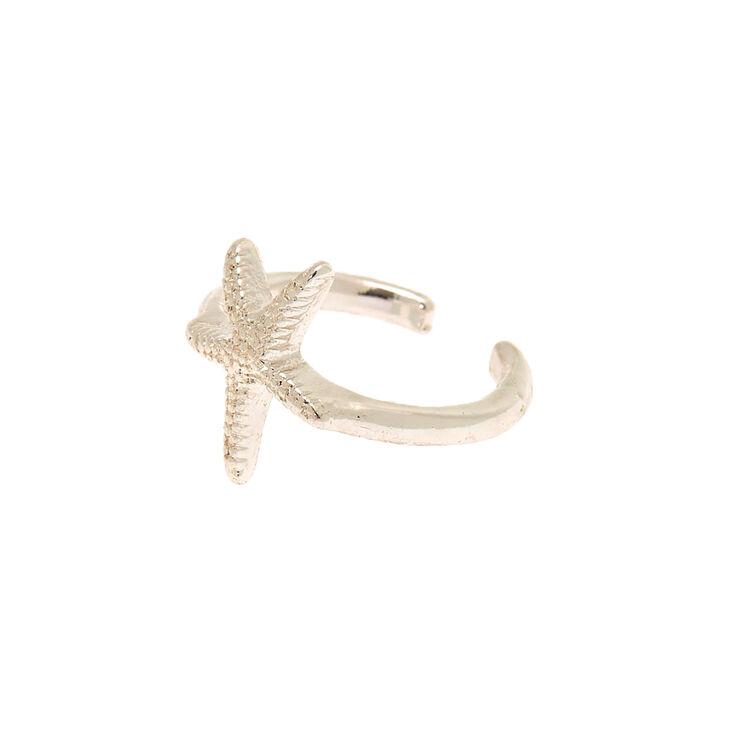 Silver Starfish Toe Ring,
